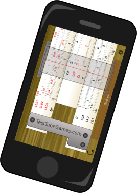 Pocket Slide Rule on iPhone